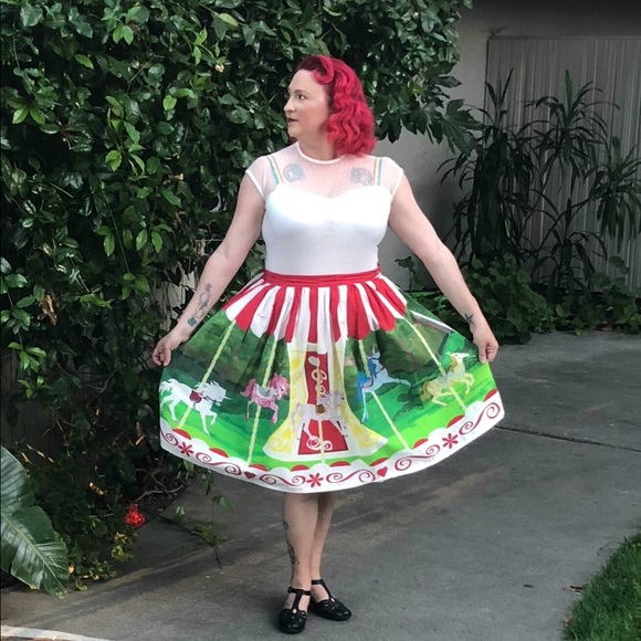 dd937d1fd7 Unique Vintage Skirts   Mary Poppins Disney Inspired Carousel Dapper ...